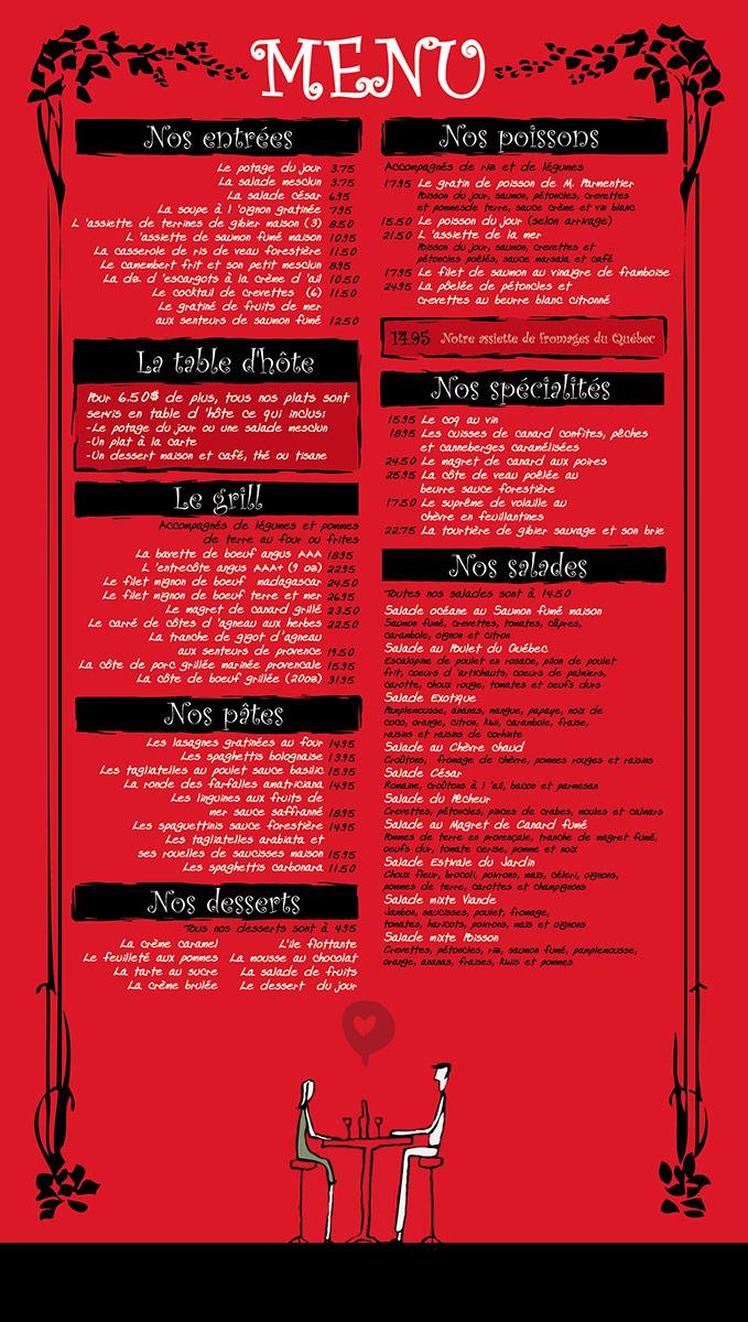 Outdoor Menu Design for a restaurant - September 2010