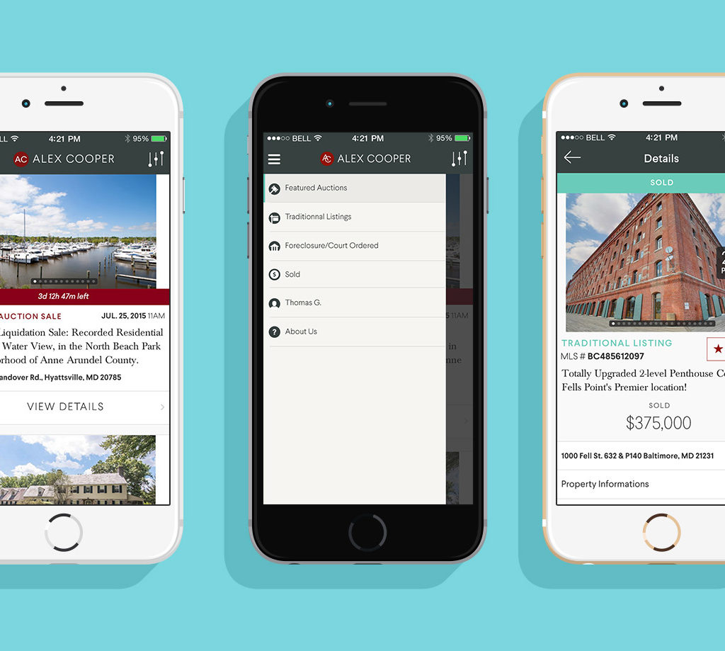 Complete Re-design Of All Platforms (iOS, IPad & Web) For This Real Estate Client - June 2015