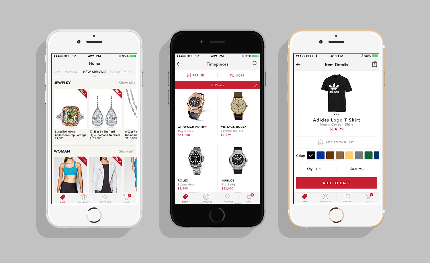 Project realized for Auction Mobility. Designing a complete retail app for our auction customers - January 2016